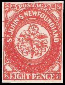 Newfoundland 1857 Sc 8 MNG Oneglia Forgery
