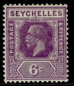 SEYCHELLES GV SG105, 6c deep mauve, M MINT.