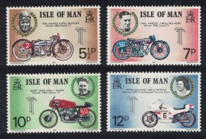 Isle of Man Tourist Trophy Motorcycle Races 4v 1975 MNH SG#63-66