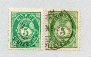 Norway - Sc# 39 & 39c Used     /     Lot 0421372