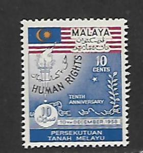 FEDERATION OF MALAYA, 89, MNH, HUMAN RIGHTS
