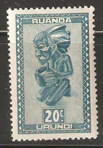 Ruanda Urundi Unused 20 cents Statues & Masks