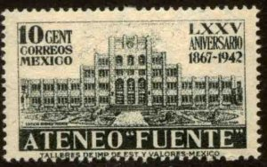 MEXICO 780, 10¢ Ateneo Fuente, 75th Anniv. MINT, NH. VF.