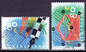 Netherlands. 1993. 1488-89. Greeting stamps. USED.