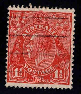 Australia Scott 68 used 1.5p red KGV wmk 203 1928