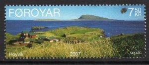 Faroe Islands 2007 #491 MNH. Landscape, Sepac