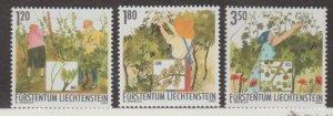 Liechtenstein Scott #1256-1257-1258 Stamps - Mint NH Set