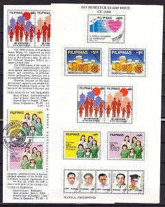 Philippines, Scott cat. 2026-2027. Girl Scouts Postal Bulletin. First day. ^