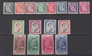 New Zealand # 208-301, Queen Elizabeth Definitives, Hinged, 1/3 Cat.