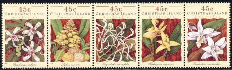 Christmas Island 1994 Sc 363 Orchids Flower Flora Stamps MNH