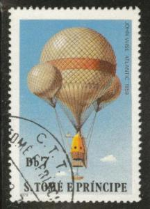 St Thomas & Prince Scott 558 Used CTO hot air balloon stamps 1979