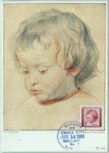 68628 -  COSTA RICA - Postal History - MAXIMUM CARD 1969 - RELIGION Art RUBENS