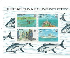 Kiribati MNH S/S 383a Tuna Fishing Industry 1981