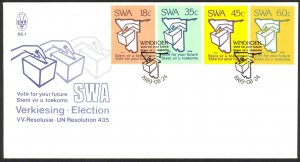 South West Africa Sc# 622-625 FDC 1989 08.24 Election