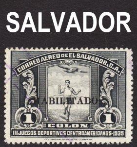El Salvador Scott C45 F to VF used. Key issue.