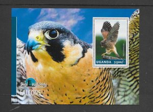 BIRDS - UGANDA #2123  FALCON  MNH