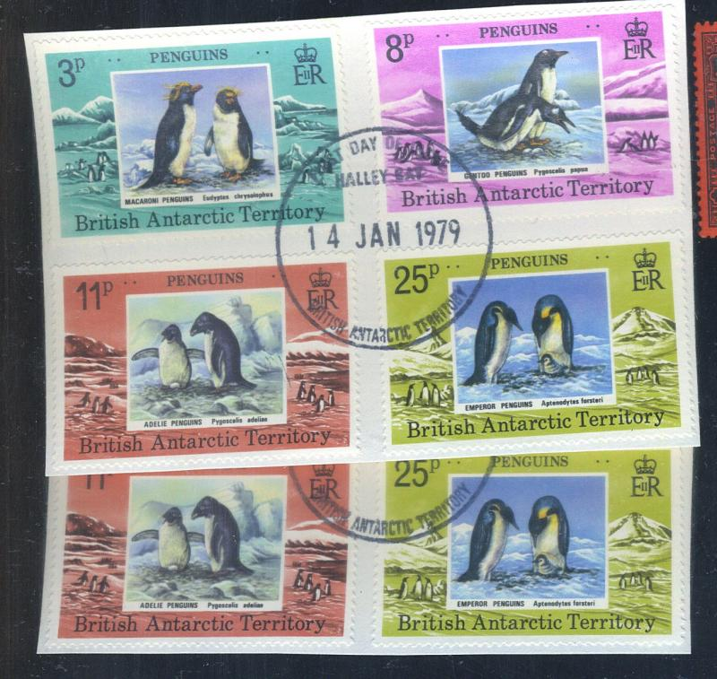 British Antarctic Terr #72-5 (2) Used 1ST Day Cancels F-VF Cat$47