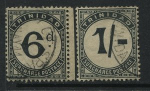 Trinidad 1906 6d and 1/ Postage Dues used slightly toned