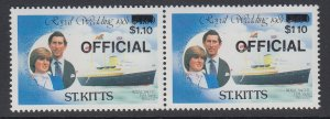 ST. KITTS, Scott O27, MNH pair (one without period)