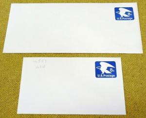 U557 8c U.S. Postage Envelopes qty 2