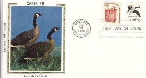 1978, CAPEX-Canada Goose, Colorano Silk, FDC (D15152)