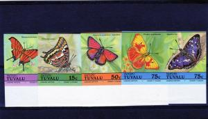 Tuvalu (Vaitupu) 1985  Sc #39-46  BUTTERFLIES  Set 8v Imperforated MNH