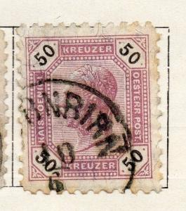 Austria 1891 Early Issue Fine Used 50kr. 093425