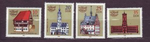 J23261 JL stamps 1983 DDR germany set mnh #2324-7 town halls