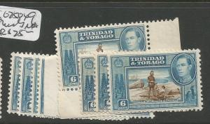 Trinidad & Tobago SG 250 X9 Shades MNH (9eaf)