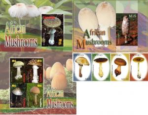 Lesotho 2007 Mushrooms Set. MNH