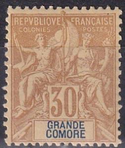 Grand Comoro #12  F-VF Unused  CV $23.00  Z911