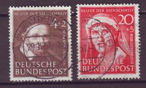 J16018 JLstamps 1951 germany parts of set used #b320,32 famous people