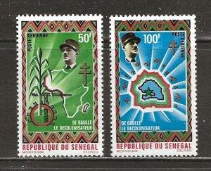 Senegal Scott catalog # C92-C93 Mint NH