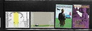 NETHERLANDS, 490-492,B475, MNH, 1971 ISSUE