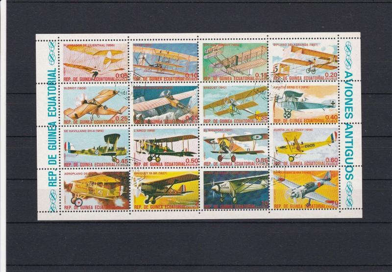Republic of Equatorial Guinea Aviation Aeroplanes MNH Stamps Sheet Ref 25095