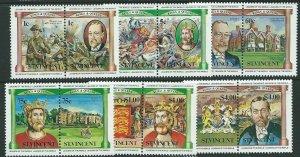 ST.VINCENT SG776/87 1984 BRITISH MONARCHS MNH