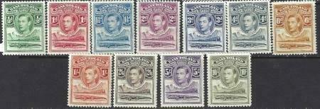 Basutoland 1938 SC 18-28 MNH Set