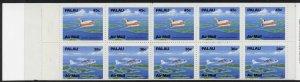 Palau C20b booklet MNH Aircraft, Boeing 727, Cessna 207