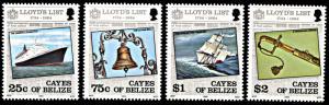 Cayes of Belize 10-13, MNH, Lloyd's List Omnibus