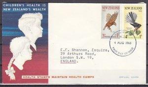 New Zealand, Scott cat. B69-B70. Bird issue. First day cover. ^
