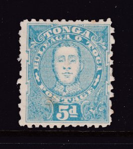 Tonga a MH 5d perf 12 x 11 from 1895