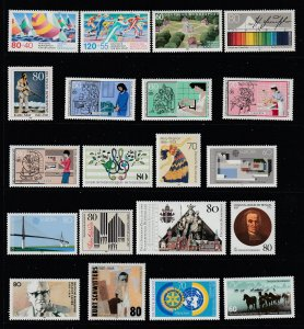 West Germany a small lot of MNH from 1987