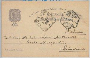 50860 - PORTUGAL - POSTAL HISTORY - STATIONERY CARD - Mi # P46 used 04.06.1898