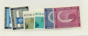 United Nations (New York) Scott #108 To 113 From 1962, Collectible Postage St...