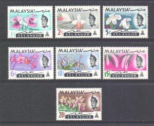 Malaya Selangor Scott 121/127 - SG136/142, 1965 Flowers Set MH*