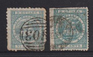 British Guiana x 2 old ones used from 1860