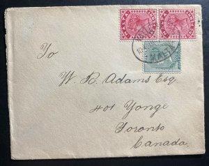 1903 Valletta Malta Cover To Toronto Canada