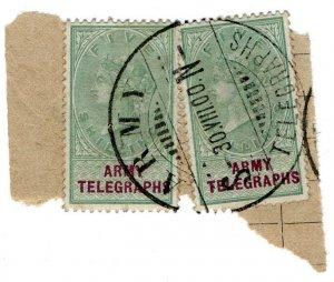 (I.B-BOB) QV Telegraphs : Army Telegraphs 5/- (Standerton - Boer War)