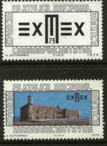 MEXICO 1058, C424 Exmex'73 Philatelic Exhibition MINT, NH. VF.