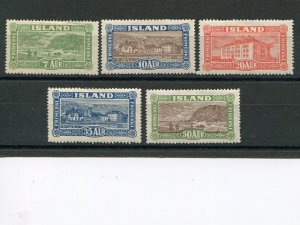 Iceland  #144-48    Mint VF  - Lakeshore Philatelics